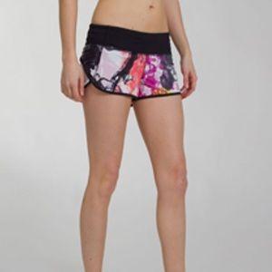 Lululemon Unicorn Tears Speed Shorts Size 4